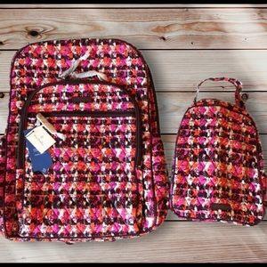 Vera Bradley Laptop Backpack & Lunch Box Set NWT